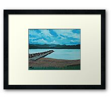 Angry Beach Painted Framed Print