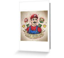 Old School Mario Tattoo Greeting Card