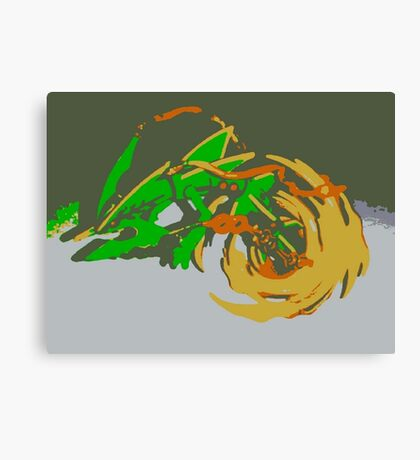 """Minimalistic Pokemon - Mega Rayquaza "" by limitedskins.com Canvas Print"