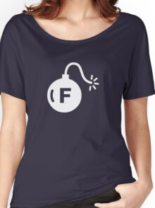 F-Bomb (White) Women's Relaxed Fit T-Shirt