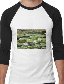 Lotus (aka Asian Water Lilly) Men's Baseball ¾ T-Shirt