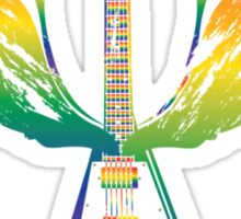 Flying V Guitar (Rainbow) Sticker