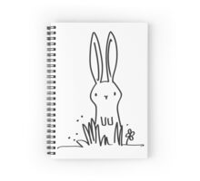 Surprised Bunny Spiral Notebook