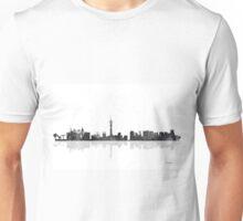 Las Vegas, Nevada Skyline - Black and White Unisex T-Shirt