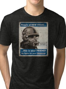 He Fights For Your Freedom! - NCR Tri-blend T-Shirt