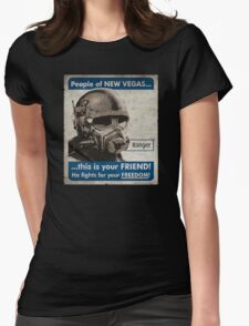 He Fights For Your Freedom! - NCR Womens Fitted T-Shirt