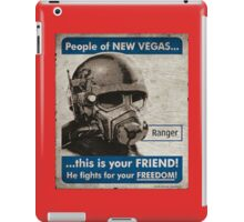 He Fights For Your Freedom! - NCR iPad Case/Skin