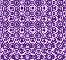 Mystical Violet Blossom by Vandarque