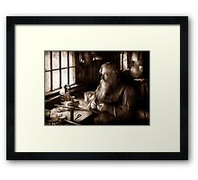 Trade - Tin Smith - Making toys for Children - BW Framed Print