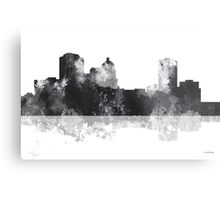 Montgomery Alabama Skyline - Black and White Metal Print