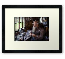 Trade - Tin Smith - Making toys for Children  Framed Print