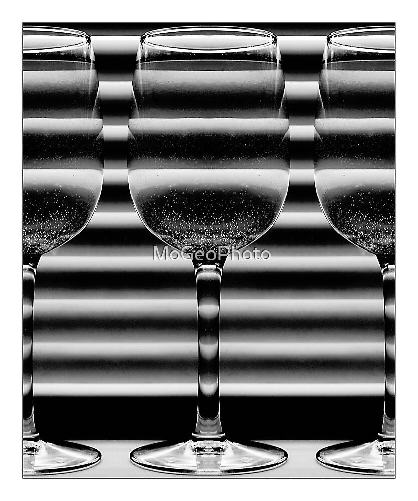 Two Wine Glasses - (Black & White) by MoGeoPhoto