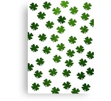 Shamrocks Invasion Canvas Print