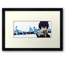 Okumura Rin - blue exorcist Framed Print