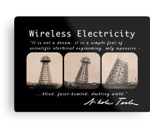 Nikola Tesla - Wireless Electricity Metal Print