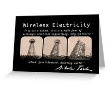Nikola Tesla - Wireless Electricity Greeting Card