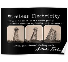 Nikola Tesla - Wireless Electricity Poster