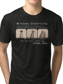 Nikola Tesla - Wireless Electricity Tri-blend T-Shirt