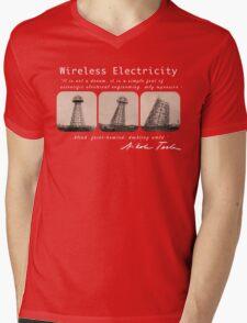 Nikola Tesla - Wireless Electricity Mens V-Neck T-Shirt