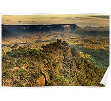 I Love Her Far Horizons - Shipley Plateau, Blue Mountains World Heritage Area , The HDR Experience Poster