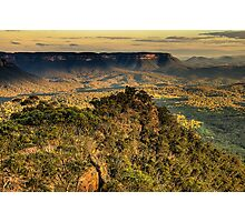 I Love Her Far Horizons - Shipley Plateau, Blue Mountains World Heritage Area , The HDR Experience Photographic Print