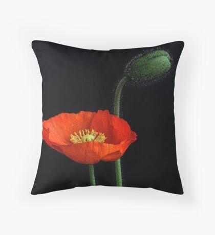 First Poppy Throw Pillow