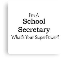 School Secretary Canvas Print