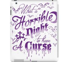 Horrible Night to have a Curse Pastel iPad Case/Skin