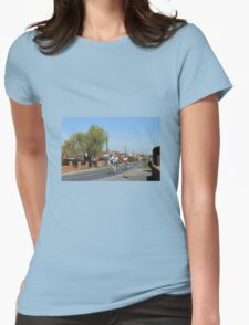 Cyclists in a Country Lane Womens Fitted T-Shirt