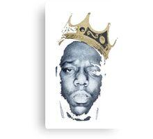 Biggie Smalls Wearing King's Crown Shirt Metal Print