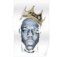 Biggie Smalls Wearing King's Crown Shirt Poster