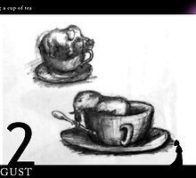 August 12th - Sharing a cup of tea by 365 Notepads -  School of Faces