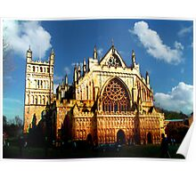 HDR Exeter Cathedral - After Monet - Rouen Cathedral Poster
