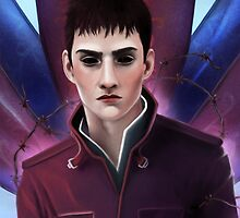 """Dishonored """"The Outsider"""" print by J Edwards"""