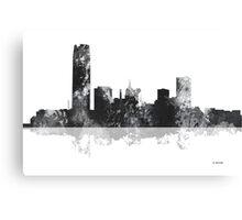 Oklahoma City, Oklahoma Skyline - Black and White Canvas Print