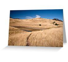 Pasture land Greeting Card