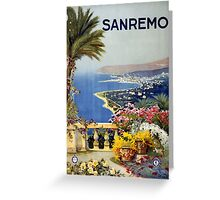Vintage San Remo Travel Poster Greeting Card