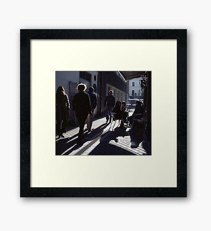 A Street Scene! Framed Print