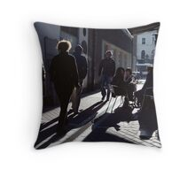 A Street Scene! Throw Pillow