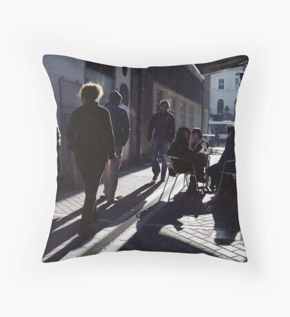 A Street Scene! Throw Pillow