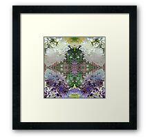 """Photo Series: Image Number 136Q (17 images in this """"space journey"""" edition), reworked digitally to create """"...into the light..."""" Framed Print"""