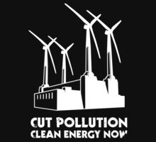 Cut Pollution - Clean Energy Now (on dark colours) Kids Clothes