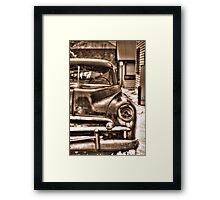old junk car sepia HDR Framed Print