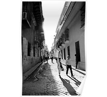 back streets of Havana Poster