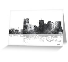 Phoenix Arizona Skyline - B&W Greeting Card