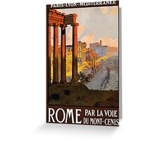 Vintage Rome Travel Poster Greeting Card