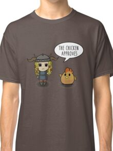 """""""The Chicken Approves"""" HTTYD Race to the Edge Classic T-Shirt"""