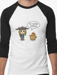 """""""The Chicken Approves"""" HTTYD Race to the Edge Men's Baseball ¾ T-Shirt"""