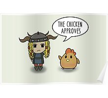 """""""The Chicken Approves"""" HTTYD Race to the Edge Poster"""