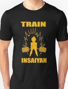 Dragon Ball Z Train Insayian Weight Lifting Shirt T-Shirt